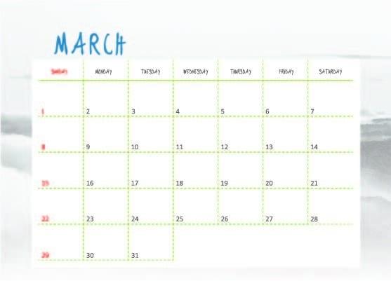 三月 March